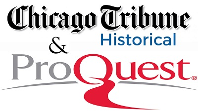 Proquest & Chicago Tribune Historical button